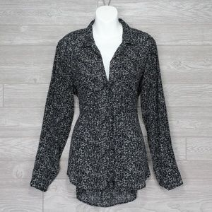 Anthropologie Cloth and Stone Black Shirt Size M